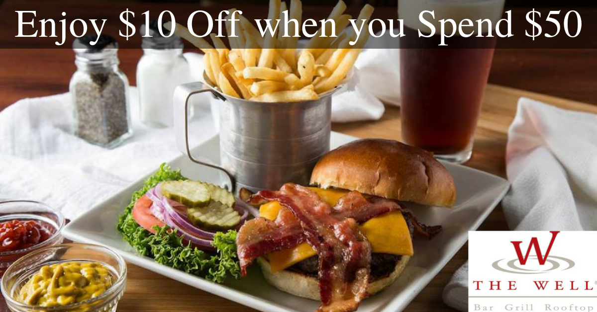 The Well Bar Grill & Rooftop - Enjoy $10 Off $50