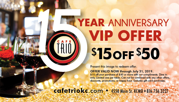 15th Anniversary $15 Off $50